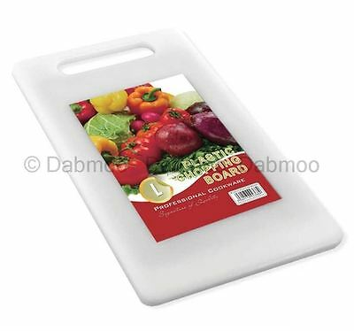 Small Plain White Plastic Chopping Board Cutting Kitchen Food Slicing Dicing