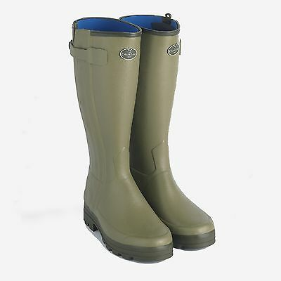 Le Chameau Gents Chasseurnord Neoprene lined zip Wellington boots  FREE UK P&P