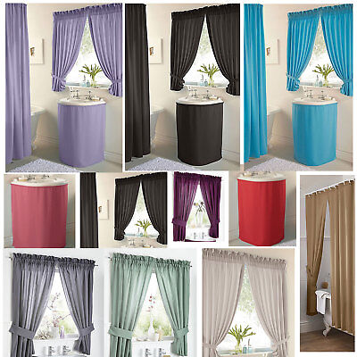 Plain Dyed Polyester Bathroom Curtain Shower Curtain Water Resistant *LAST FEW*