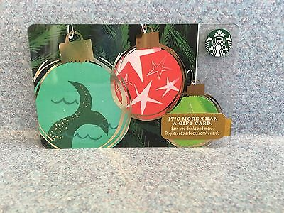 Starbucks 2016 Mermaid Tail Ornament Christmas Holiday Gift Card