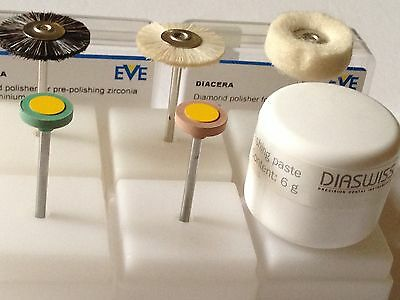Diamond Infused Polishers For Zirconia and E.Max ,Assortment Of 6