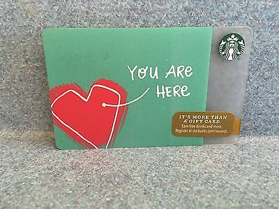 Starbucks 2016 You Are Here Christmas Holiday Gift Card