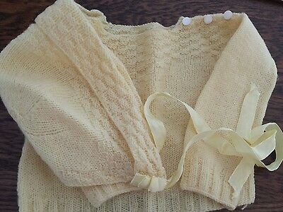 baby bonnet and sweater vintage
