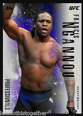 Topps UFC Knock Out *Professionals* Blue Francis Ngannou Digital Card