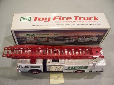 Hess Toy Fire Truck 1989 New In Box