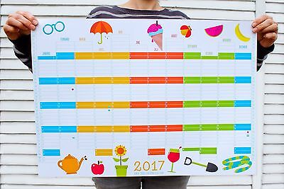 Premium Quality 2017 Wall Planner A2