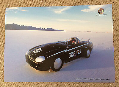 MGF 'Project EXF' 217mph Bonneville Speed Record Period Poster - 1997
