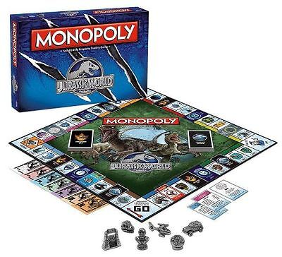 Jurassic World Monopoly - Fast Dealing Property Trading Game Dinosaur New