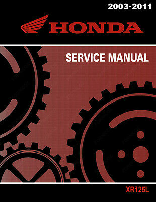 Honda XR125L Service Workshop Repair Shop Manual XR 125 L A 2003 2011 CD