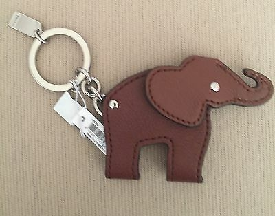 Coach Elephant Leather Key ring/ FOB New With Tags