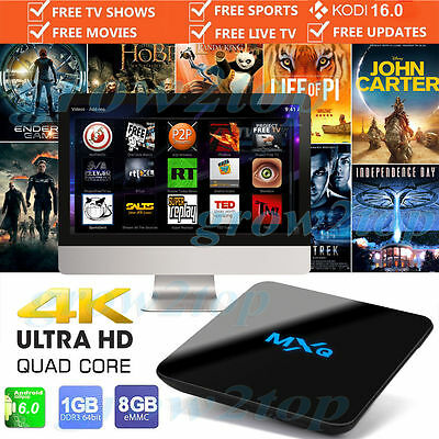 NEW 2017 MXQ PRO Android Streamer 6.0 KODI ****FREE EXPRESS DELIVERY****