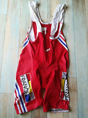 Cuissard Cycliste Noret Adidas Equipe France  Lycra Taille M/3 Tbe