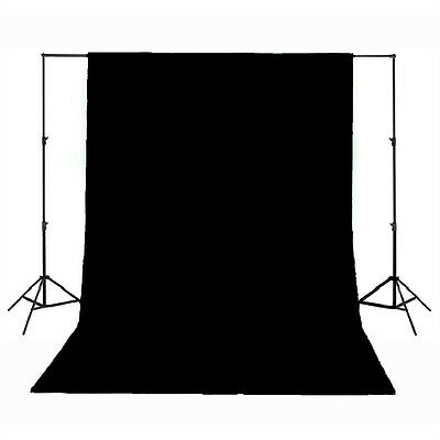 Background Backdrop 100% Cotton Muslin 3M x 6M Meter Studio Photography - Black