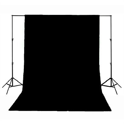 Background Backdrop ONLY 100% Cotton Muslin 3M x 6M Meter Photography - Black