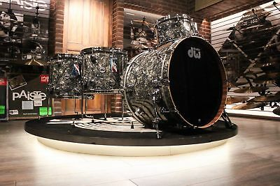 DW Collector's Series Maple/Mahogany 4-piece Silver Abalone Drum Set - New!