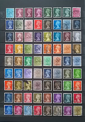 GB, UK, Queen Elizabeth II, small lot of used stamps