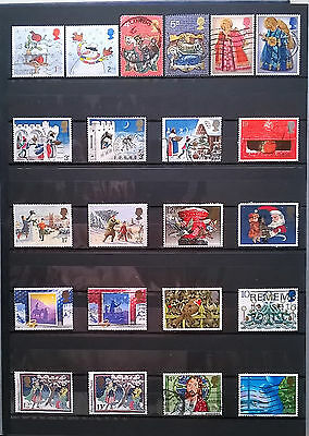 GB,  small lot of used Christmas stamps