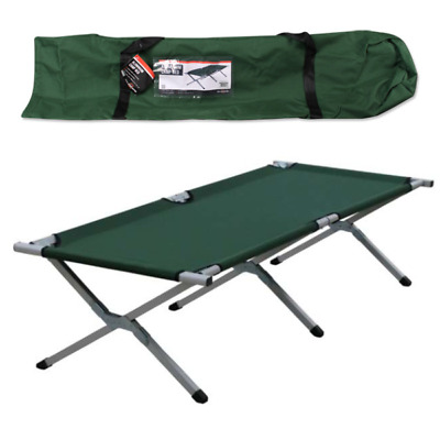 Milestone Heavy Duty Super Light Green Folding Camp Camping Bed