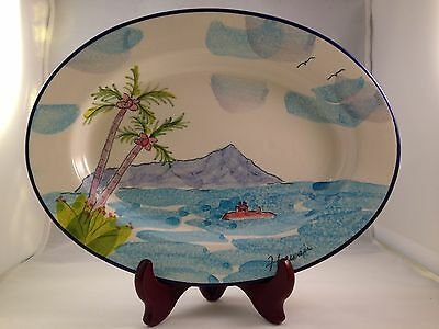 SSN Louisville Submarine Oval Platter by Tropical Clay Hawaii