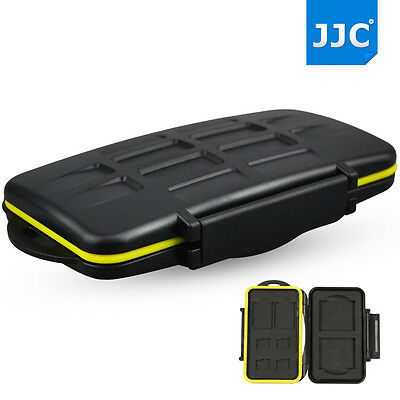 JJC water-resistant Hard Storage Memory Card Case For 2 CF+2 SD+4 MicroSD Card