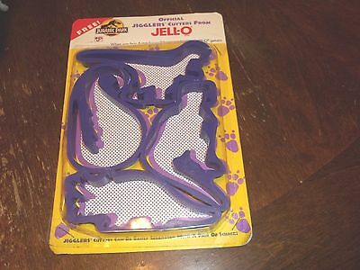 vintage jell-o jigglers cutters jurassic park not used 1994 still joined