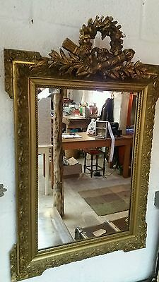 French antique crested mirror.