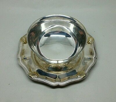 Beautiful GORHAM Silverplate Footed Gravy or Sauce Bowl Near Mint