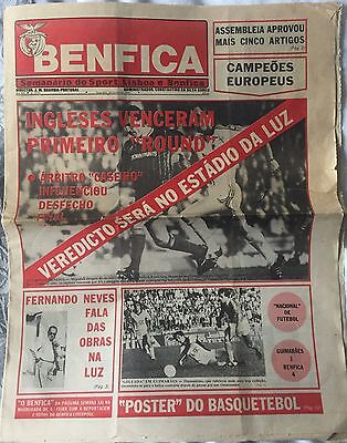Benfica V Liverpool 1984/5 Newspaper Edition Programme European Cup
