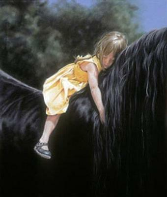 Some Dreams Last A Lifetime Horse and Girl Lesley Harrison  Poster Print