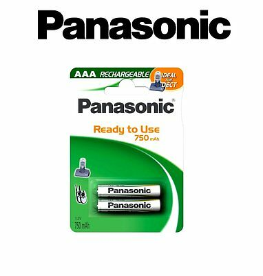 ACCU 2 PILES RECHARGEABLES AAA Micro HR3 HR03 R3 R03 750 mAh PANASONIC
