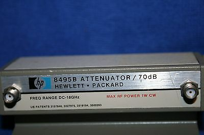 HP  8495B MANUAL STEP ATTENUATOR DC TO 18GHz Option 002