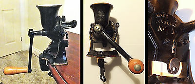 Vintage Coffee Grinder  - Spong & Co No.1 Made In England - In Great Condition.