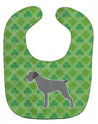 Carolines Treasures  BB6416BIB German Wirehaired Pointer Shamrocks  Baby Bib