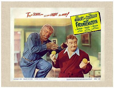 """Abbott and Costello Wolfman, Frakenstein, Dracula 8""""X10"""", Ready To Frame"""