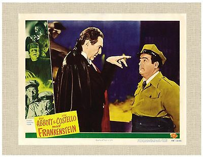 """Abbott and Costello Dracula Wolfman Frakenstein 8""""X10"""" Ready To Frame"""