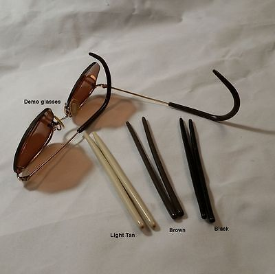 """""""NEW"""" Silicone Antique Wire Frame Eyeglass Temple covers - 1.6 mm ID"""
