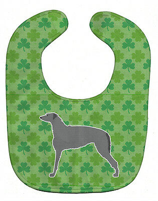 Carolines Treasures  BB6401BIB Scottish Deerhound Shamrocks  Baby Bib