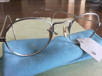 Vintage Wire Eyeglasses New Old Stock American Optical 2678-WM White