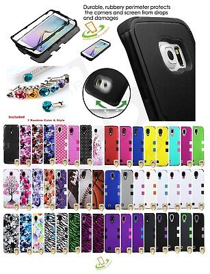 Hybrid Rubber Hard Skin TUFF Protective Case Cover For Samsung Galaxy Phones New