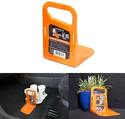 Stayhold Mini Orange Small Car Boot Trunk Tidy Organiser Movement Barrier