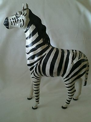 "Zebra Large Plaster Statue, 13 1/2"" Tall  12"" Long 5"" Wide.Vintage  & a Beauty."