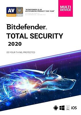 Bitdefender TOTAL SECURITY 2019, 10 Multi-Devices 1 Year LATEST DOWNLOAD VERSION
