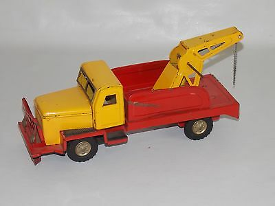Juguete de hojalata camion grua Made in Japan años 60  / tin toy car japan truck
