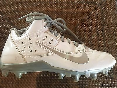 Nike Kids White & Silver Speedlax Lacrosse Cleats