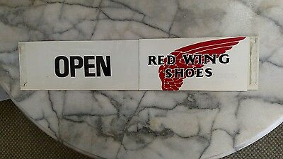 Red Wing Shoes Door Push Minnetonka Moccasins on Other Side Plastic