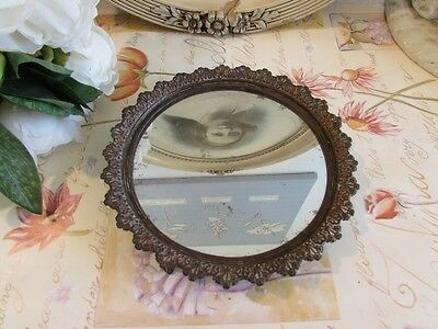Antique, vintage French little mirrored tray standing on three little legs.