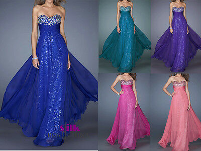 New Formal Long Chiffon Ball Gown Party Prom Dress Bridesmaid Dresses Evening