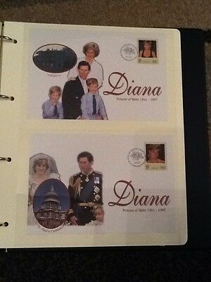 Diana Princess Of Wales First Day Cover X2