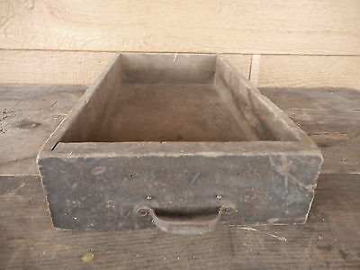 Small Black ANTIQUE WOOD DRAWER use as Box Repurpose Country Primitive Decor