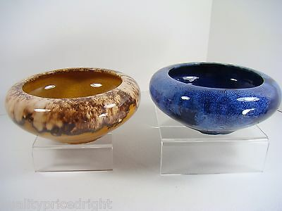 Brush McCoy Cobalt Blue Drip Onyx and Brown Drip Onyx Bowl Collection  Style 01